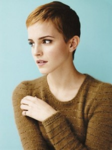 Emma Watson short pixie cut after Harry Potter