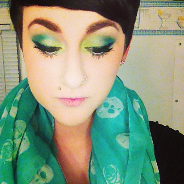 art of nature aveda makeup trends 2013 green eye shadow