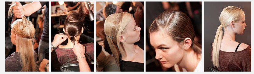 low pony hair trend style