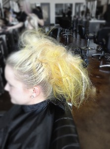Aveda Tampa Beauty School hair style updo top knot bun how to tutorial