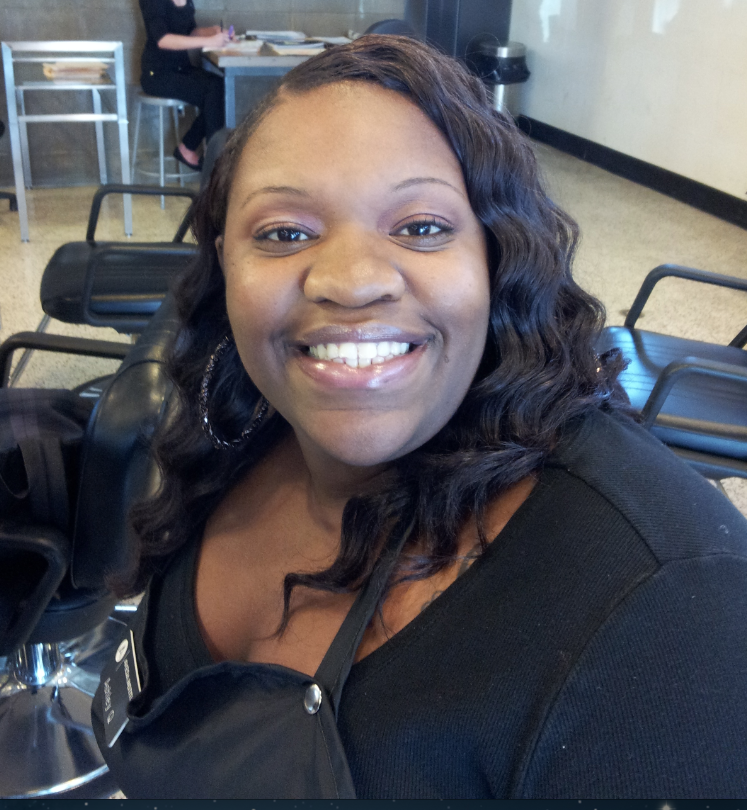Tallahassee Beauty School Student on AVEDA Spring Makeup