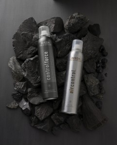 air control and control force hair spray from aveda