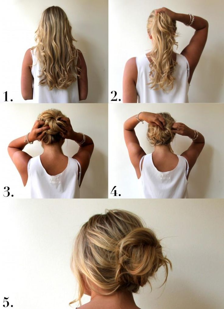 Messy Bun hair how to