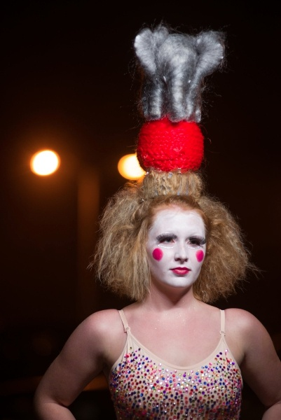beauty school makeup circus hair