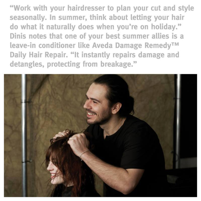 Summer Hair Style Tips from AVEDA's Ricardo Denis