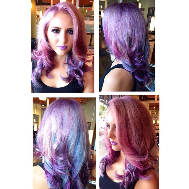 Pink Purple hair AVEDA