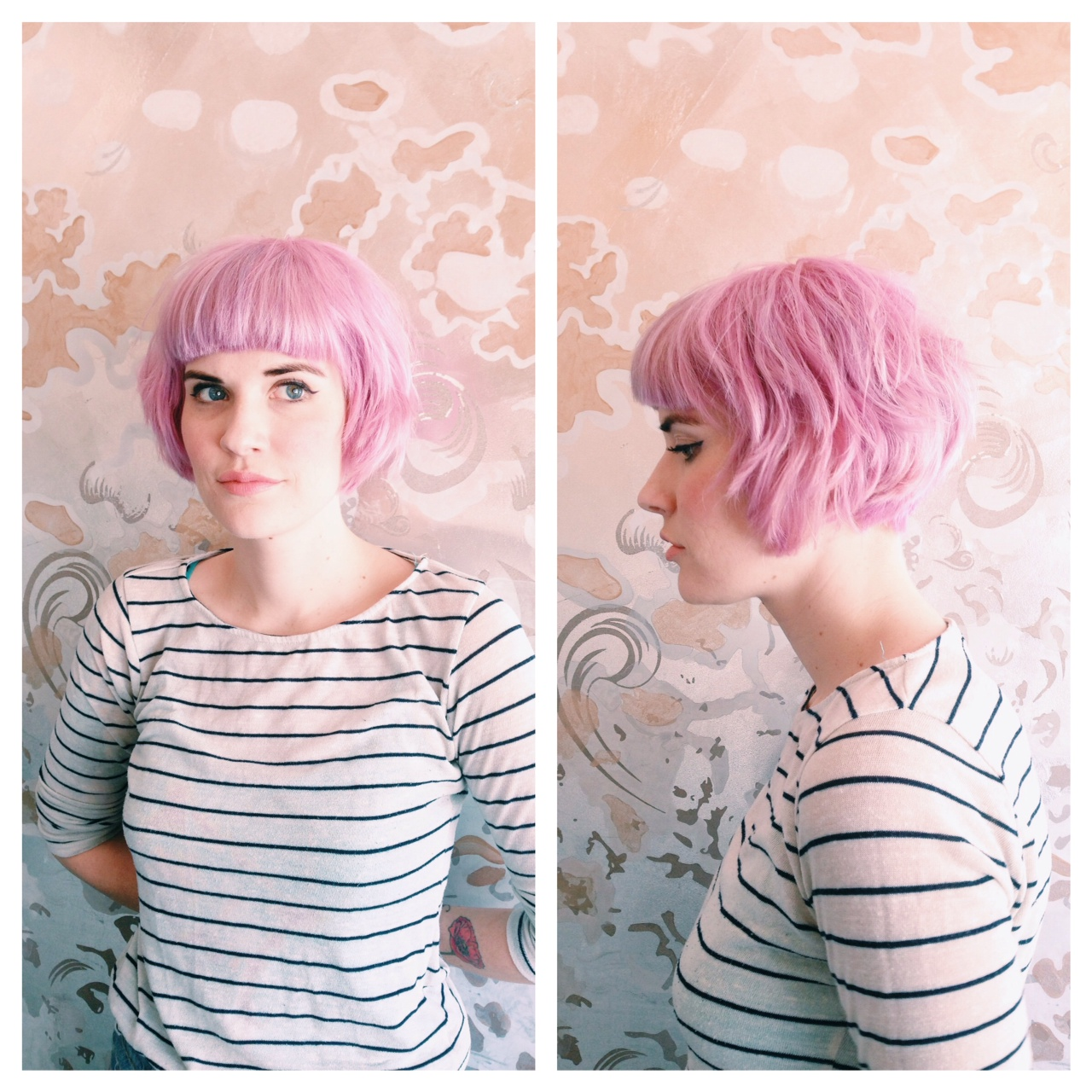 pink hair aveda color