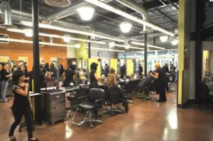 Students at Aveda Institute South Florida beauty school in ft lauderdale miami florida area