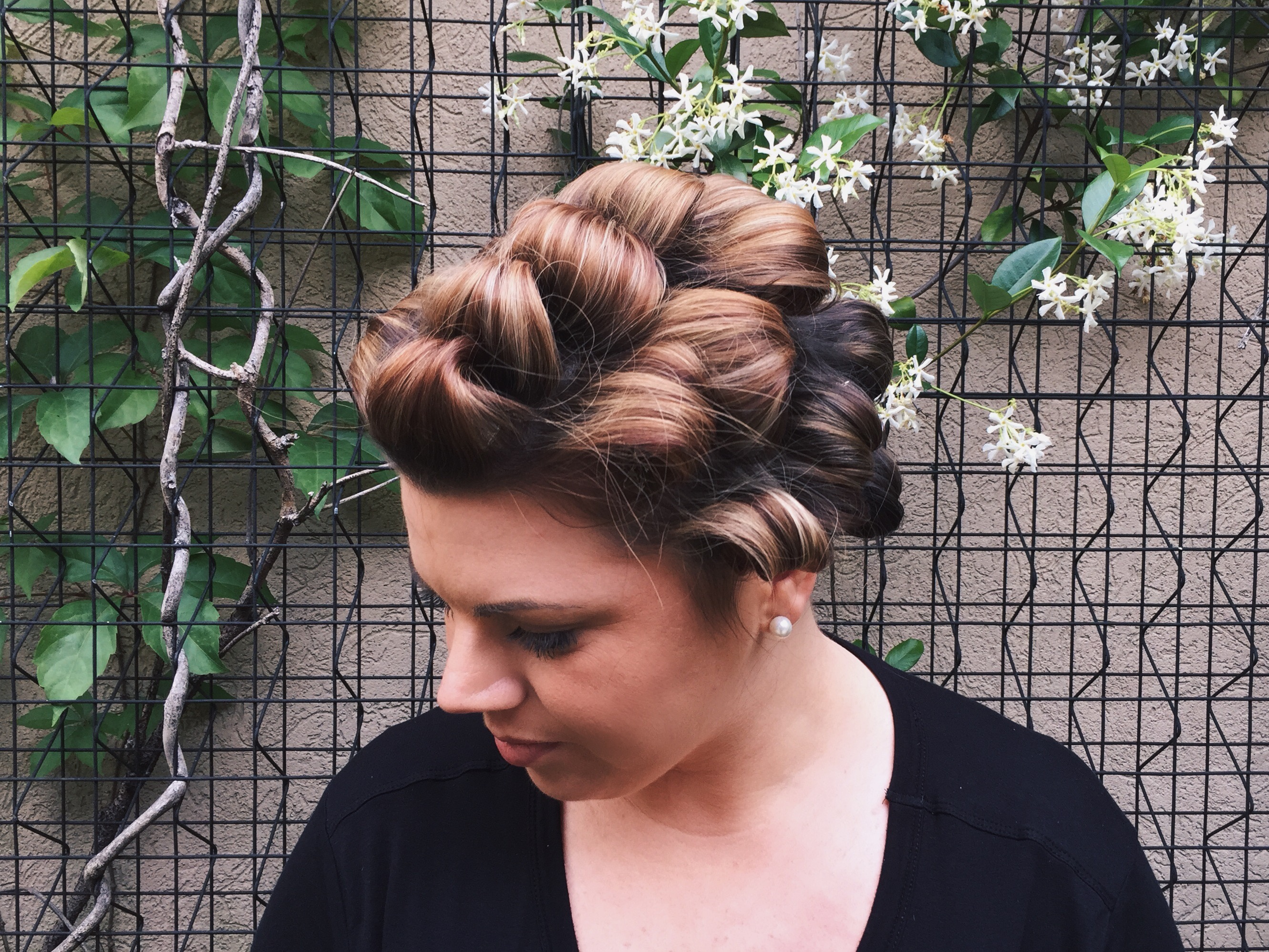 curly loose updo