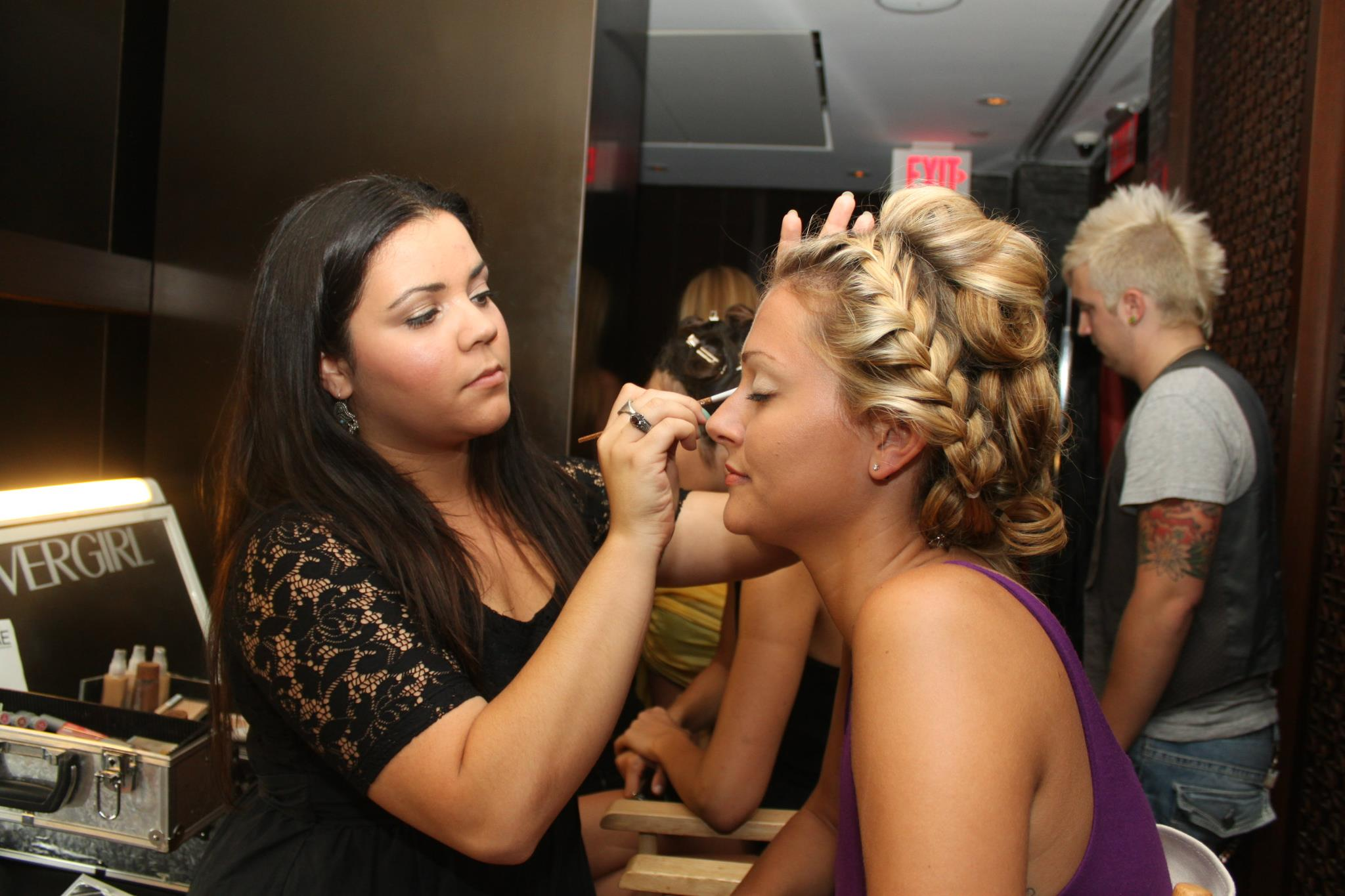 Behind the scenes hair and makeup