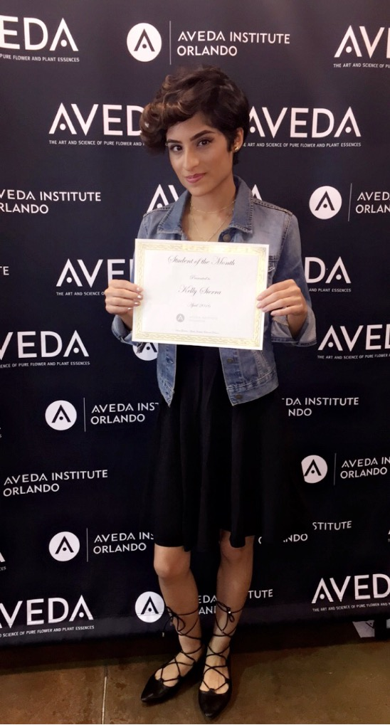 aveda institute orlando student of the month